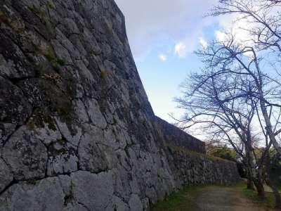 米子城 高石垣
