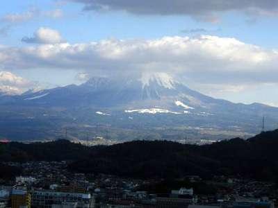 米子城 本丸から大山を見る
