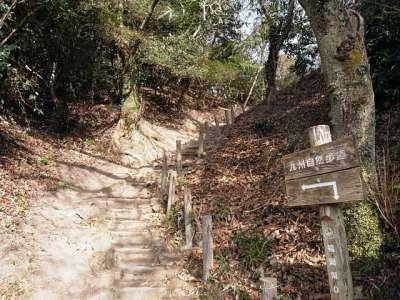 岩屋城 本丸への道