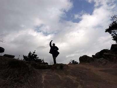 大野城 焼米ヶ原でシェー