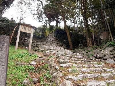 肥前名護屋城 上山里丸(現・広沢寺への参道)