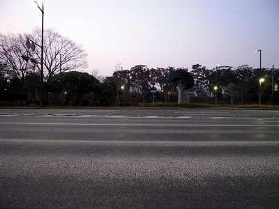 大濠公園駅出口から見た福岡城