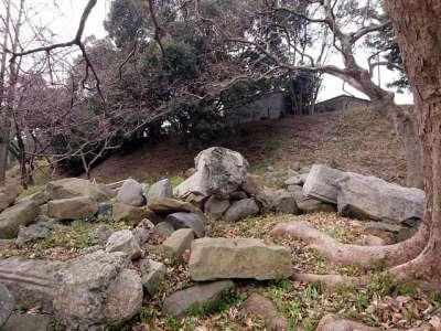 福岡城 三の丸高台の北面