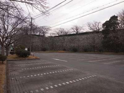 福岡城 駐車場 (二の丸北面石垣)