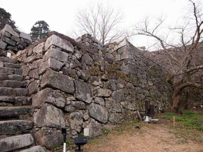 福岡城 天守台東側の階段