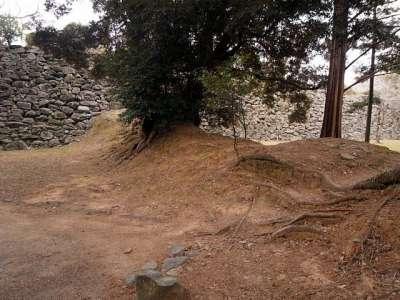 福岡城 二の丸に残る土塁