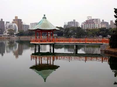 福岡城 大濠公園 浮見堂