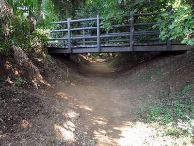 赤山陣屋址 東堀方面 堀と橋