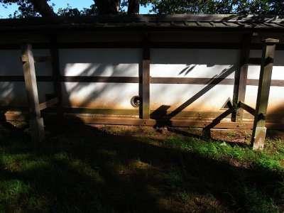 土浦城(茨城県土浦市) 塀(復元)