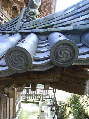 安土山 釃見寺三重塔 瓦