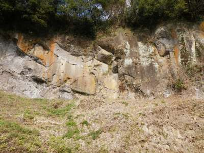 豊後 岡城 岩壁