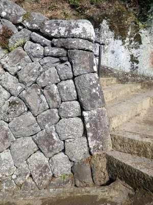 豊後 岡城 大手道の石塁