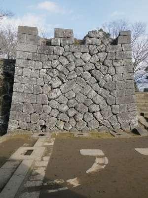 豊後 岡城 大手門石垣