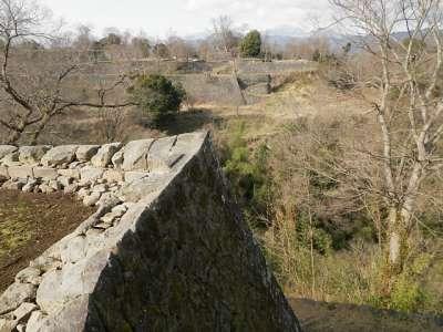 豊後 岡城 西の丸遠景