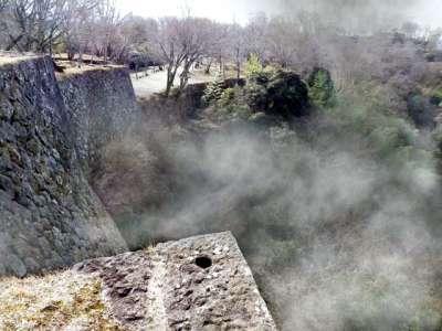 豊後 岡城 フォトレタッチで擬似霧追加
