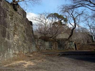 豊後 岡城 枡形から本丸を見る