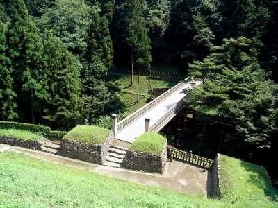 八王子城 曳橋(推定復元)