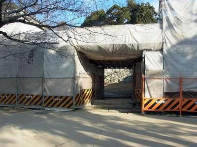 姫路城 ろの門(修理中)