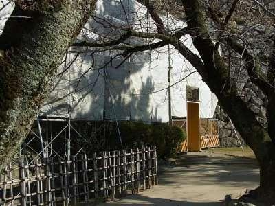 姫路城 るの門(修理中)