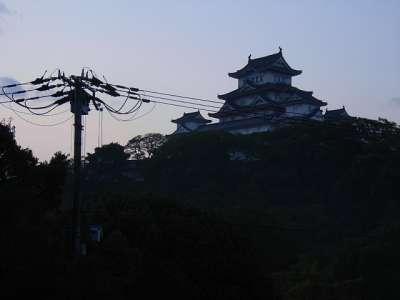 姫路城 明け方