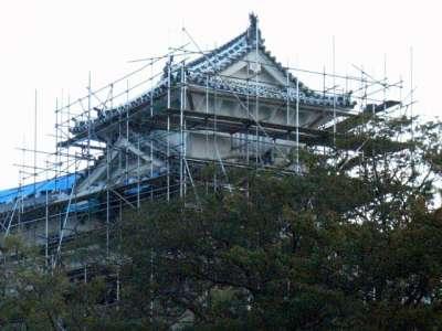姫路城 修理中の櫓