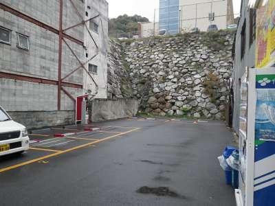 伊予松山城 城下の駐車場