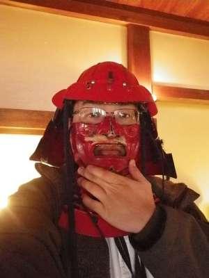 伊予松山城 当世具足レプリカ試着コーナー