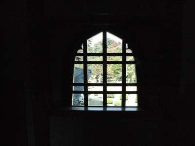 松本城 月見櫓 花灯窓