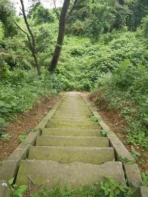 武蔵松山城 春日曲輪への道