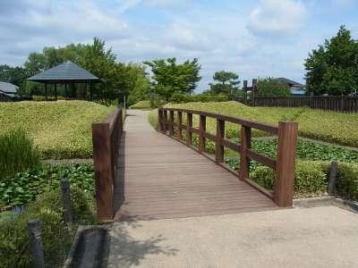 難波田城 木橋(復元)