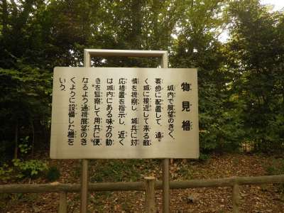岡城 (埼玉県朝霞市) 説明板