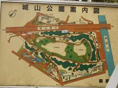岡城 (埼玉県朝霞市) 案内図