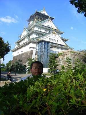 大阪城 天守と自分撮り
