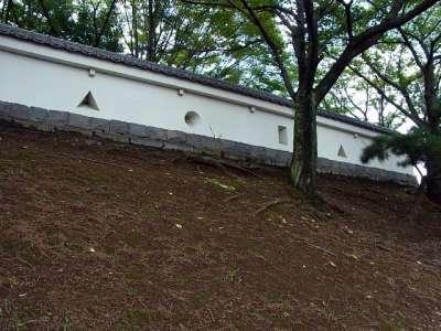 忍城 水城公園 塀(模擬塀?)