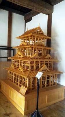 大洲城 復元天守模型