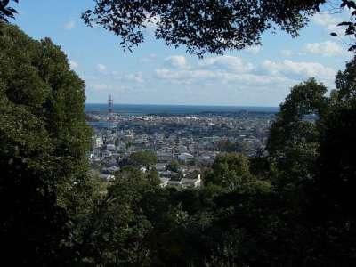 高鍋城 山頂曲輪からの眺め