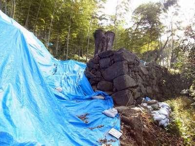 宇和島城 修理中石垣