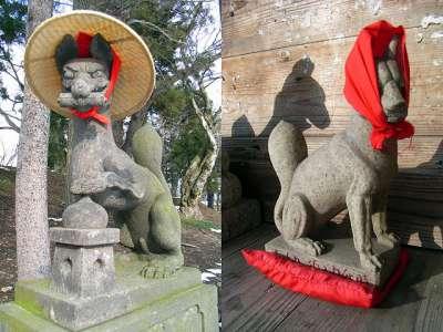 鶴ヶ城(会津若松城)稲荷神社 狛狐