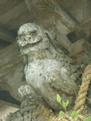 江田神社(宮崎県宮崎市) 木鼻