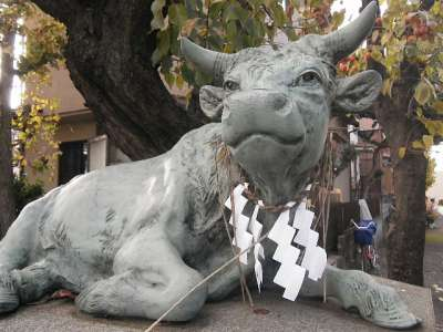 徳丸北野神社(板橋区) 狛牛