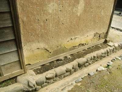 川崎市立 日本民家園 鈴木家 土台 礎石