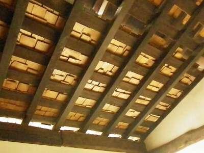 川崎市立 日本民家園 三澤家 こけら葺き屋根の裏側