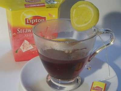 紅茶とたくあん(べったら入り)