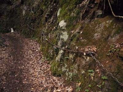 天滝渓谷 くさり場