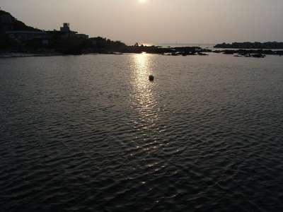 荒崎海岸_夕陽