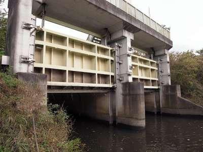 芝川第一調節池(埼玉県) 水門