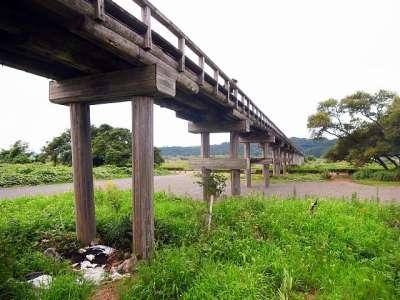 蓬莱橋(静岡県島田市)