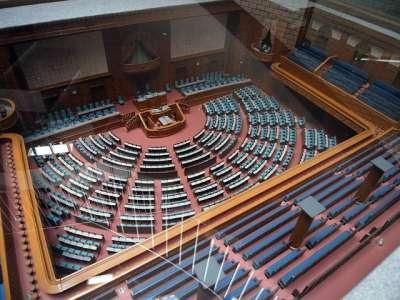 憲政記念館 議事堂の模型